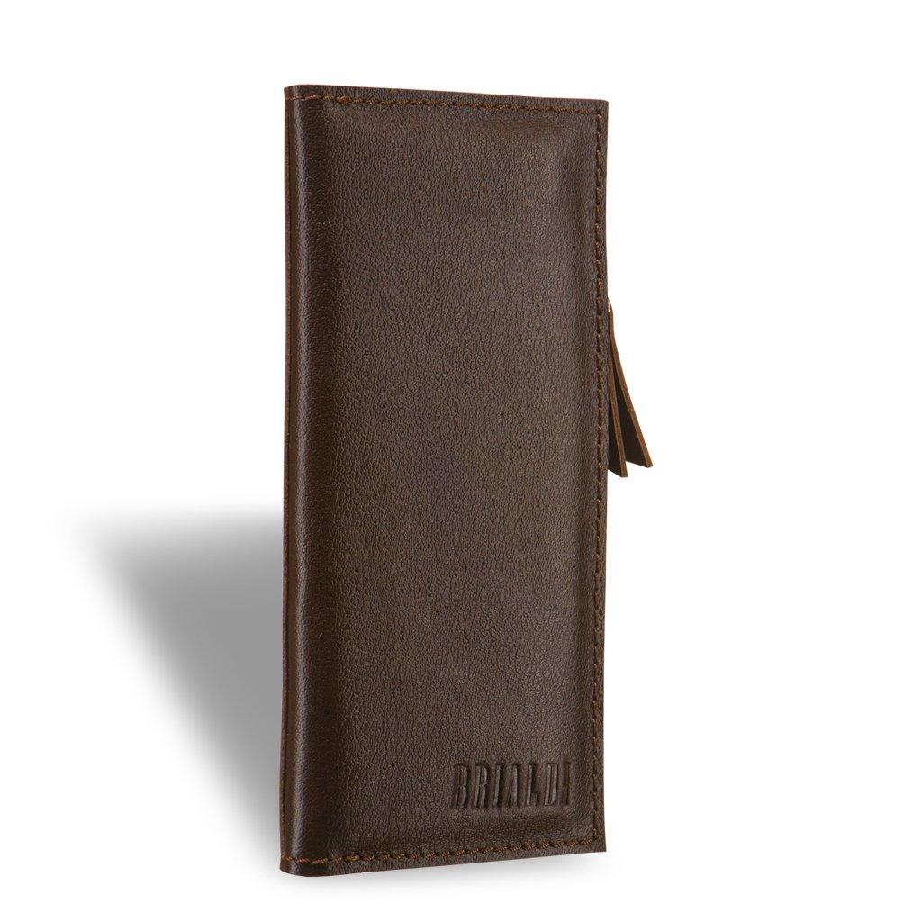 Купить Портмоне slim-формата BRIALDI Fermo (Фермо) brown, Италия, Коричневый, Натуральная кожа высококачественной выделки Great Nappa