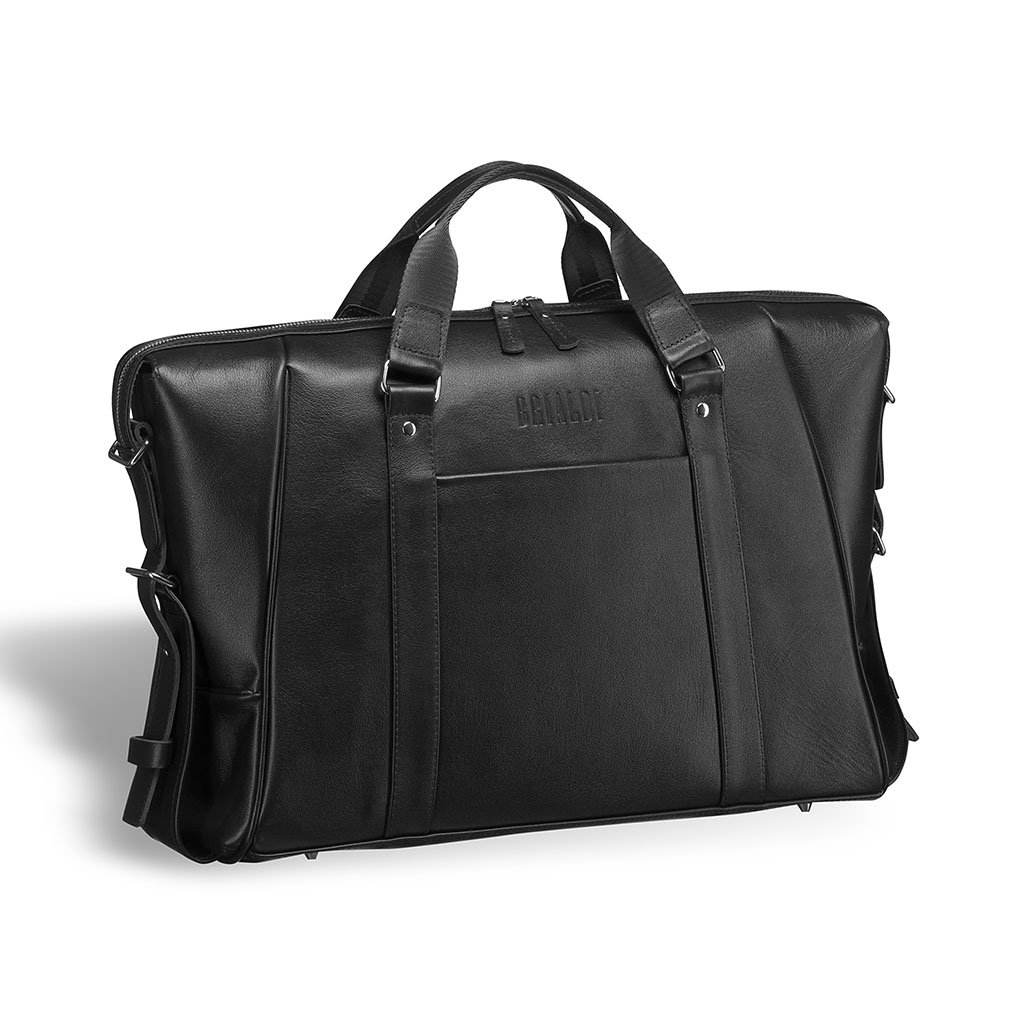 Купить Деловая сумка для архитекторов и конструкторов BRIALDI Valvasone (Вальвазоне) black, Италия, Черный, Натуральная кожа высококачественной выделки, сорт Great Nappa
