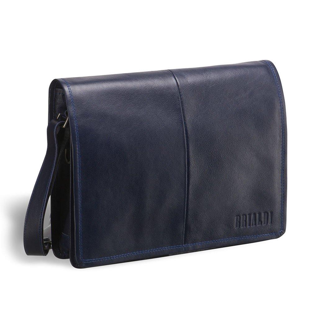Купить со скидкой Кожаная сумка через плечо BRIALDI Ancona (Анкона) navy