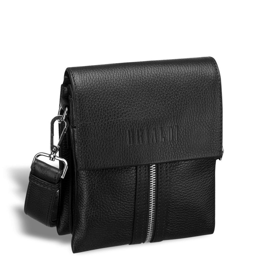 Купить Вертикальная сумка mini-формата через плечо BRIALDI Campi (Кампи) relief black, Италия, Черный, Натуральная кожа Canyon