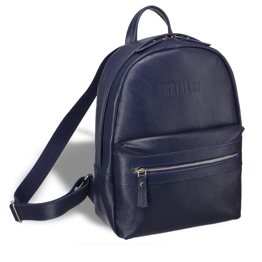 Купить Женский стильный рюкзак BRIALDI Leonora (Леонора) relief navy, Италия, Синий, Рельефная натуральная кожа Canyon
