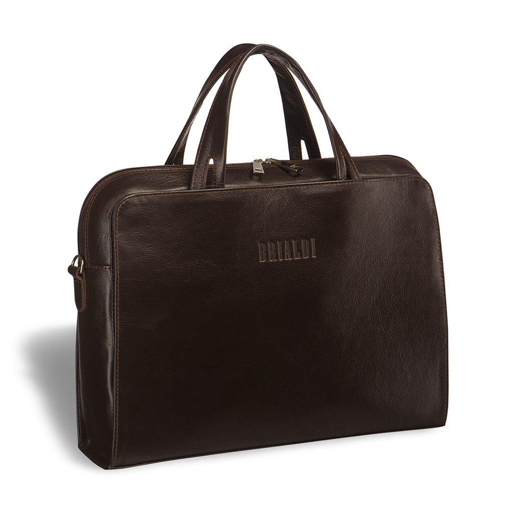 Купить Женская деловая сумка BRIALDI Alicante (Аликанте) brown, Италия, Коричневый, Натуральная кожа высококачественной выделки Great Nappa