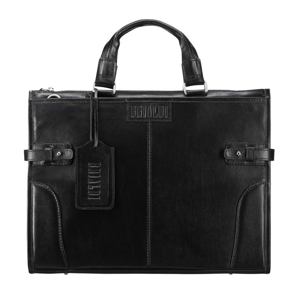 Купить Деловая сумка BRIALDI Bristol (Бристоль) black, Италия, Черный, Натуральная кожа высококачественной выделки, сорт Great Nappa