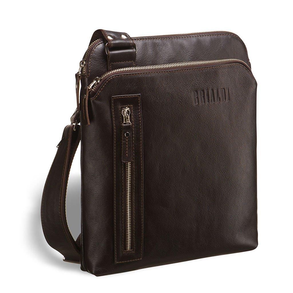 Купить со скидкой Кожаная сумка через плечо BRIALDI Providence? (Провиденс) brown