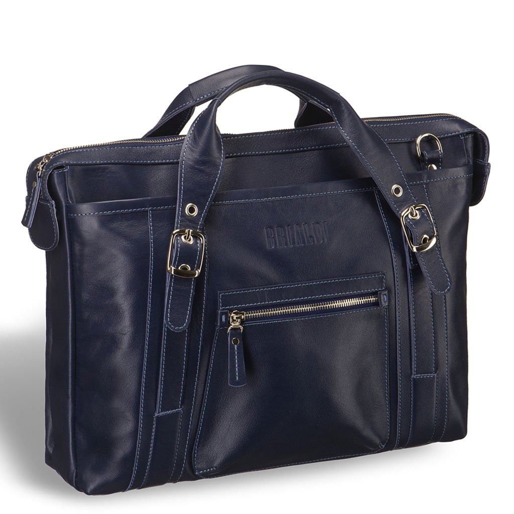 Купить Деловая сумка BRIALDI Navara (Навара) navy, Италия, Синий, Натуральная кожа высококачественной выделки, сорт Great Nappa