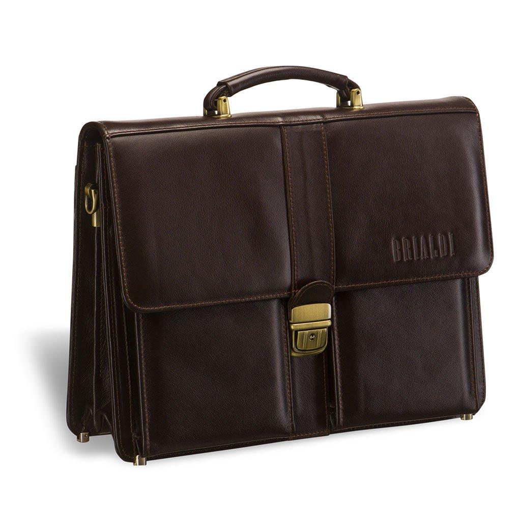 Купить со скидкой Классический портфель BRIALDI Asti (Асти) brown