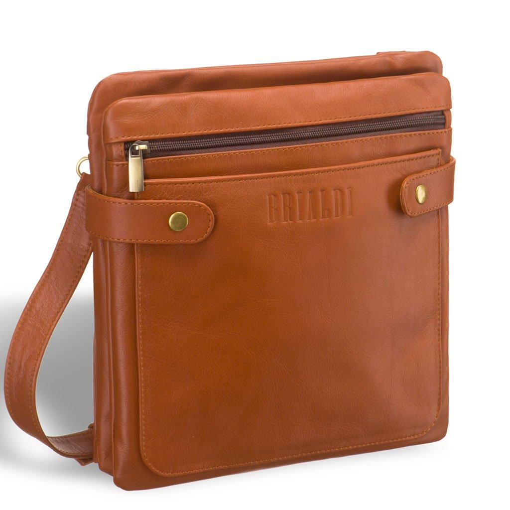 Купить Кожаная сумка через плечо BRIALDI Nevada (Невада) whiskey, Италия, Рыжий, Натуральная кожа высококачественной выделки, сорт Great Nappa