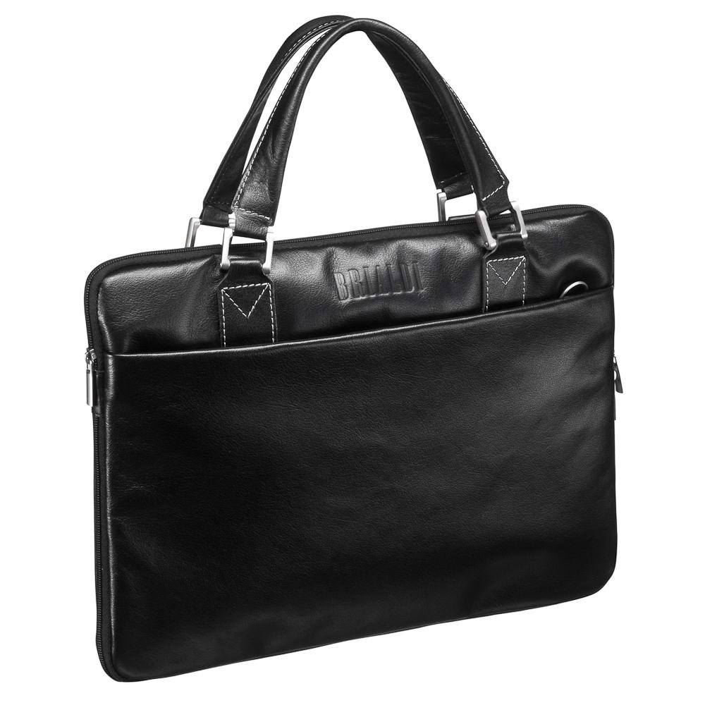 Купить Деловая сумка SLIM-формата BRIALDI Ostin (Остин) black, Италия, Черный, Натуральная кожа высококачественной выделки, сорт Great Nappa