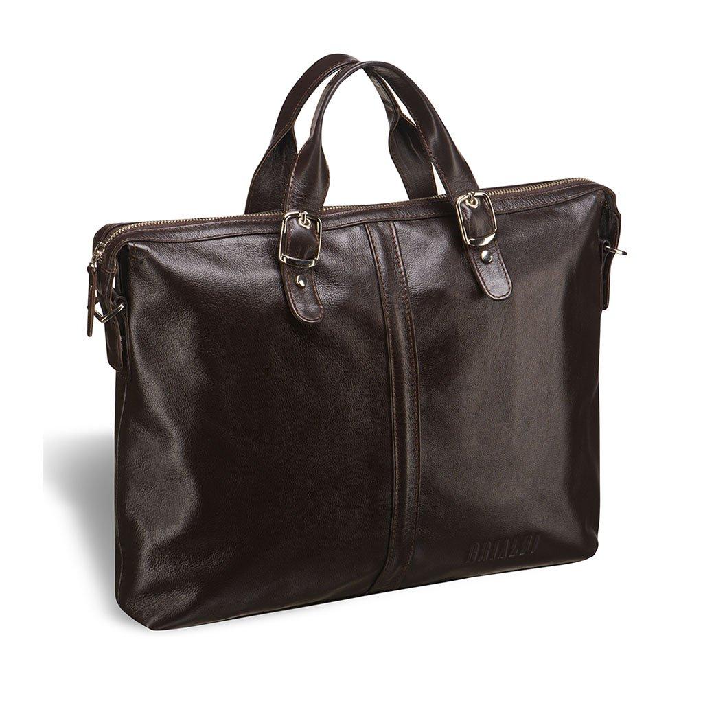 Купить Деловая сумка BRIALDI Denver (Денвер) brown, Италия, Коричневый, Натуральная кожа высококачественной выделки, сорт Great Nappa