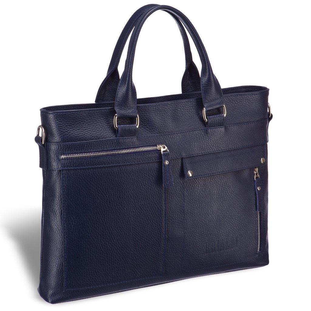 Деловая сумка Slim-формата для документов BRIALDI Bresso (Брессо) relief navy