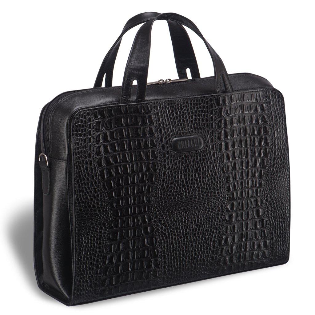 Купить со скидкой Женская деловая сумка BRIALDI Alicante (Аликанте) croco black
