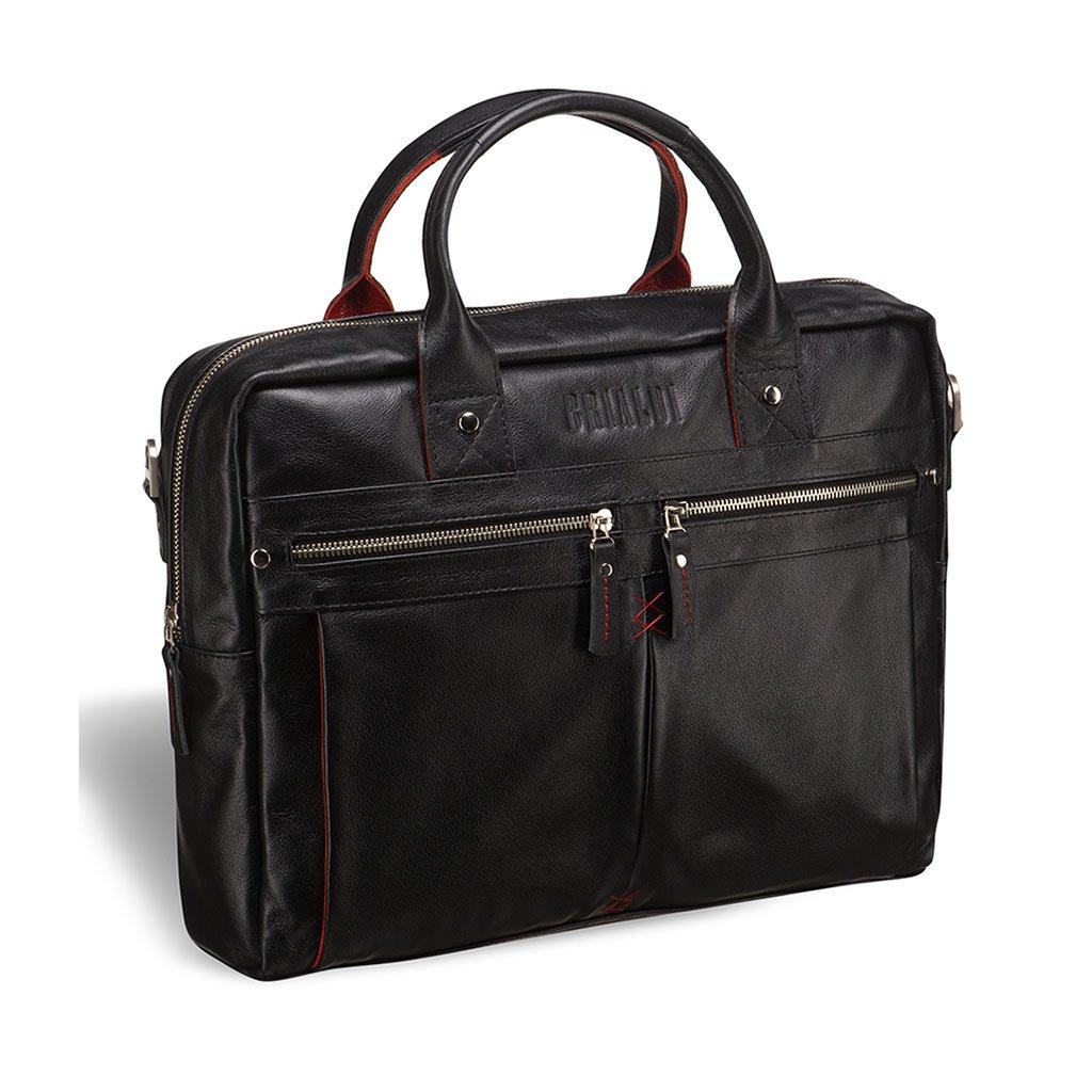 Купить Деловая сумка BRIALDI Stamford (Стэмфорд) black, Италия, Черный, Натуральная кожа высококачественной выделки, сорт Great Nappa