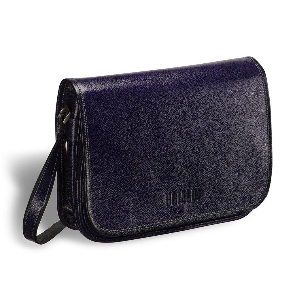 Купить со скидкой Кожаная сумка через плечо BRIALDI Cambridge (Кембридж) relief navy