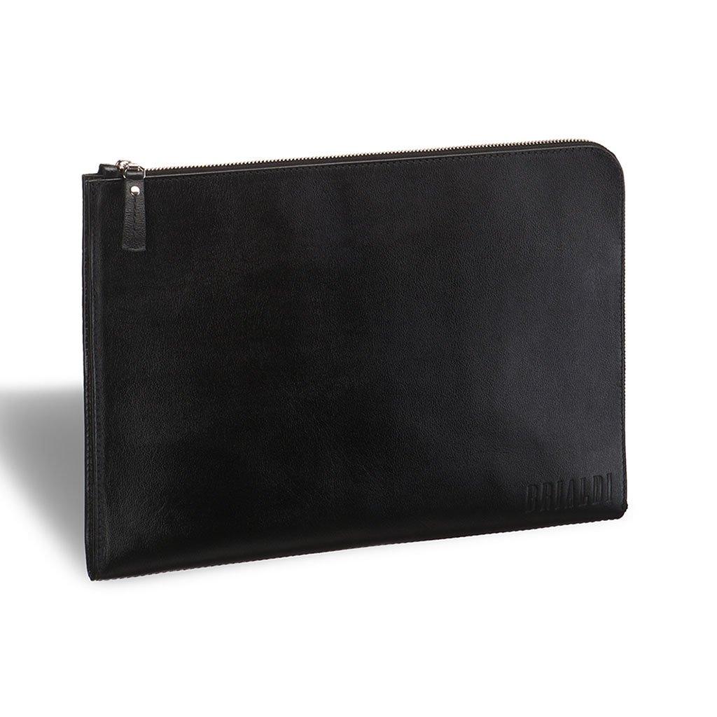 Купить Папка для документов BRIALDI Link (Линк) black, Италия, Черный, Натуральная кожа высококачественной выделки, сорт Great Nappa