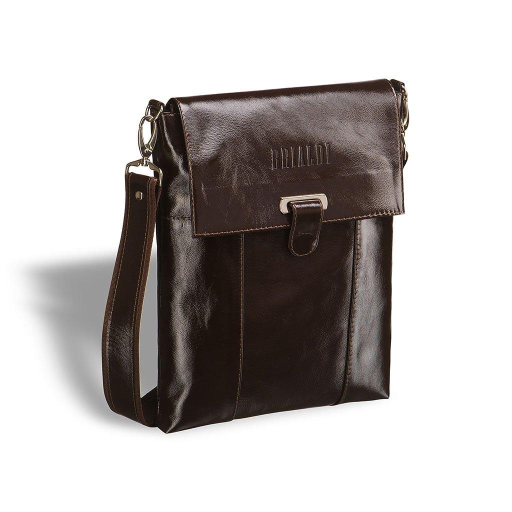 Купить Кожаная сумка через плечо BRIALDI Toronto (Торонто) shiny brown, Италия, Коричневый, Натуральная кожа высококачественной выделки Solid Nappa