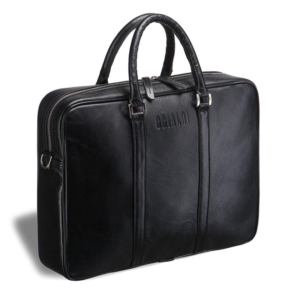 Купить Деловая сумка BRIALDI Borno (Борно) black, Италия, Черный, Натуральная кожа высококачественной выделки, сорт Great Nappa