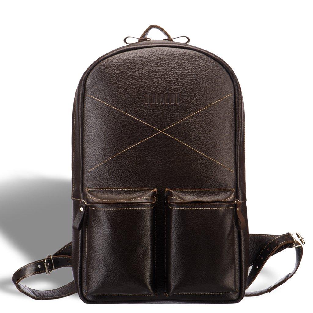 Купить со скидкой Кожаный рюкзак BRIALDI Bismark (Бисмарк) relief brown