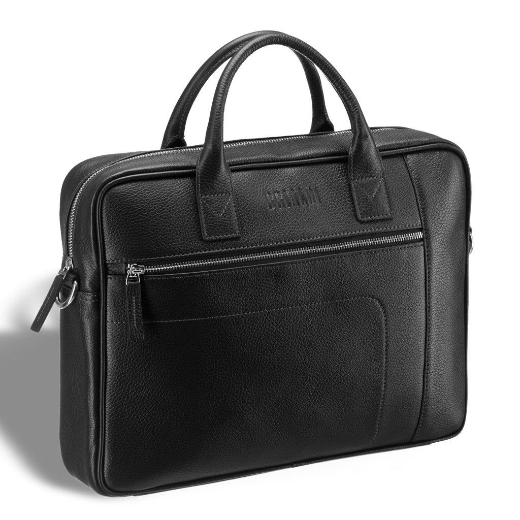 Купить Классическая деловая сумка для документов BRIALDI Rochester (Рочестер) relief black, Италия, Черный, Натуральная кожа высококачественной выделки CANYON