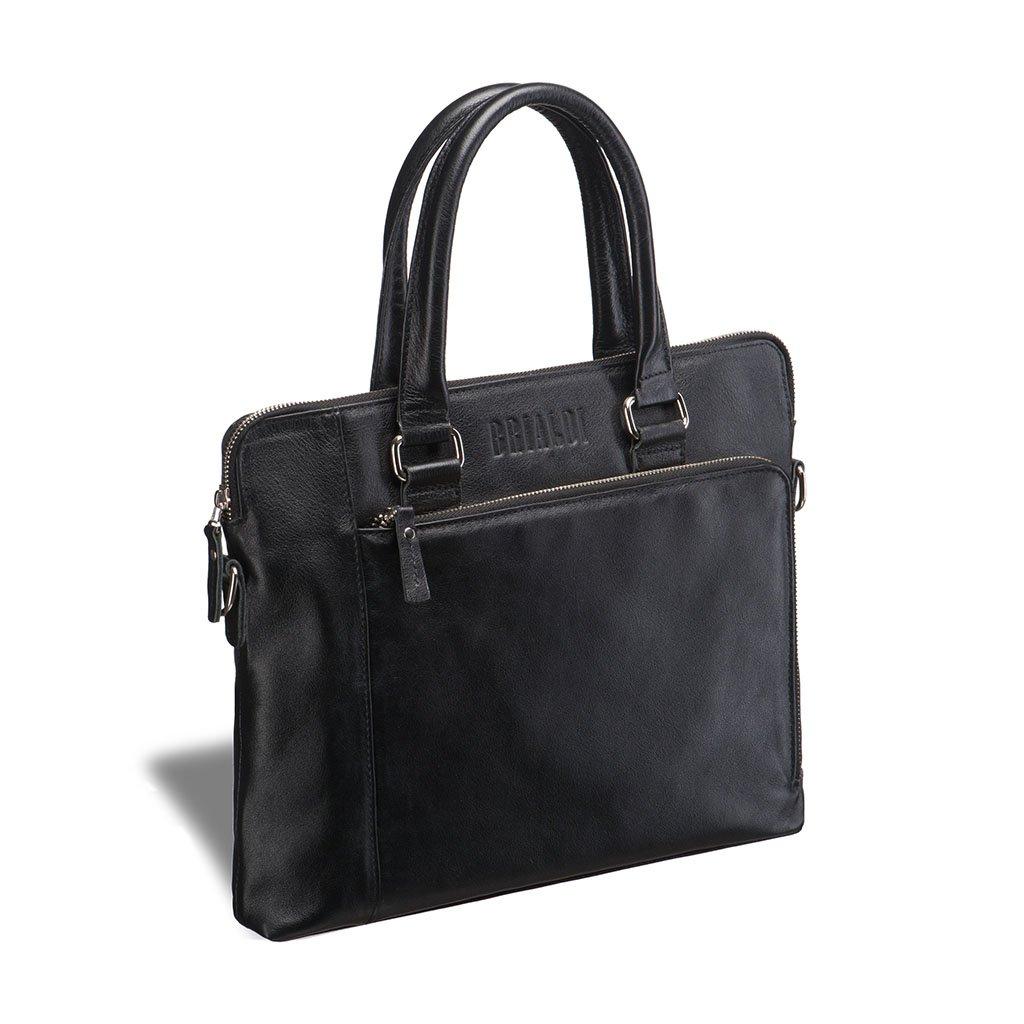 Купить Деловая сумка BRIALDI Leicester (Лестер) black, Италия, Черный, Натуральная кожа высококачественной выделки, сорт Great Nappa