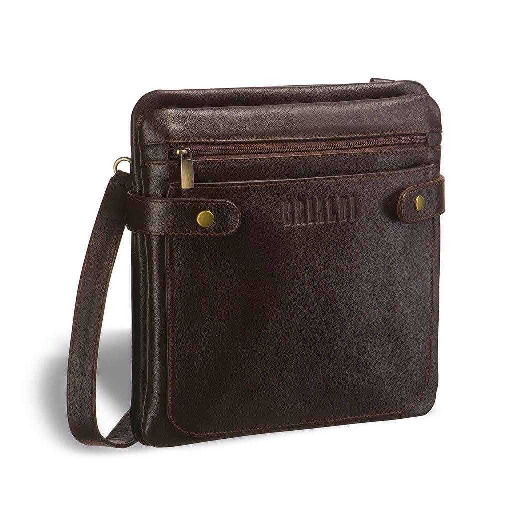 Купить Кожаная сумка через плечо BRIALDI Nevada (Невада) brown, Италия, Коричневый, Натуральная кожа высококачественной выделки, сорт Great Nappa