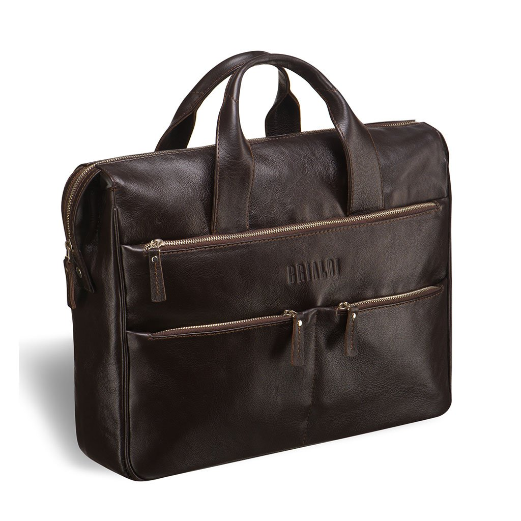 Купить Вместительная деловая сумка BRIALDI Manchester (Манчестер) brown, Италия, Коричневый, Натуральная кожа высококачественной выделки, сорт Great Nappa