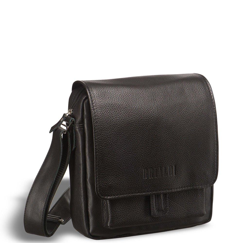 Купить Кожаная сумка через плечо BRIALDI Lucca (Лукка) black, Италия, Черный, Натуральная кожа высококачественной выделки, сорт шорно-седельная
