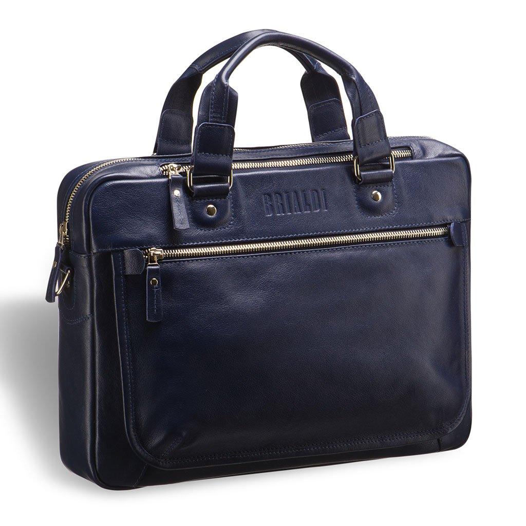Купить Деловая сумка BRIALDI York (Йорк) navy, Италия, Синий, Натуральная кожа высококачественной выделки, сорт Great Nappa