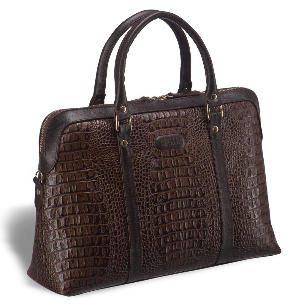 Купить со скидкой Удобная женская сумка BRIALDI Valencia (Валенсия) croco brown