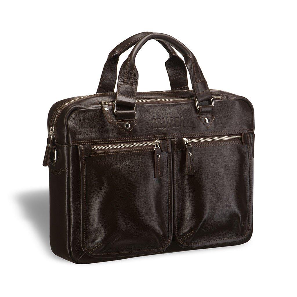 Купить Деловая сумка для документов BRIALDI Parma (Парма) brown, Италия, Коричневый, Натуральная кожа высококачественной выделки, сорт Great Nappa