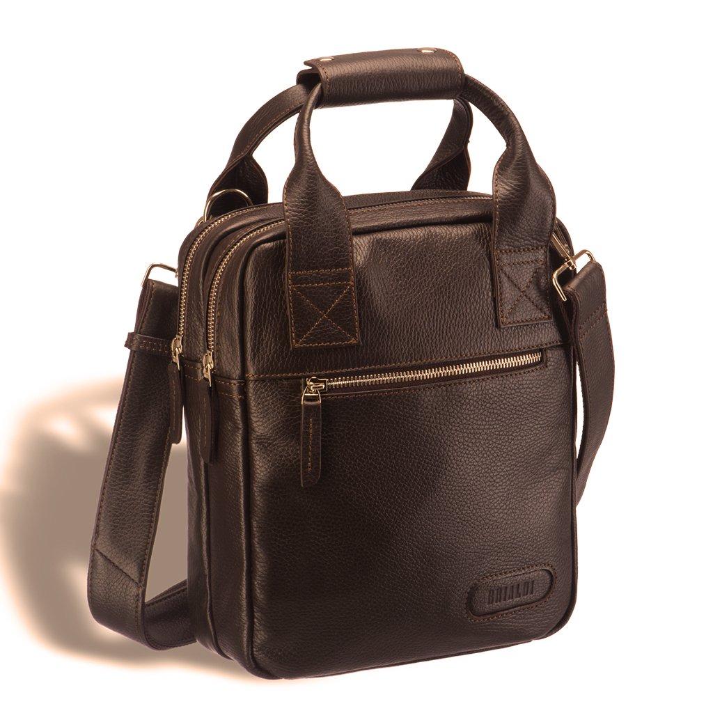 Купить Кожаная сумка через плечо BRIALDI Valbona (Вальбона) relief hazel, Италия, Коричневый, Натуральная кожа высококачественной выделки Canyon