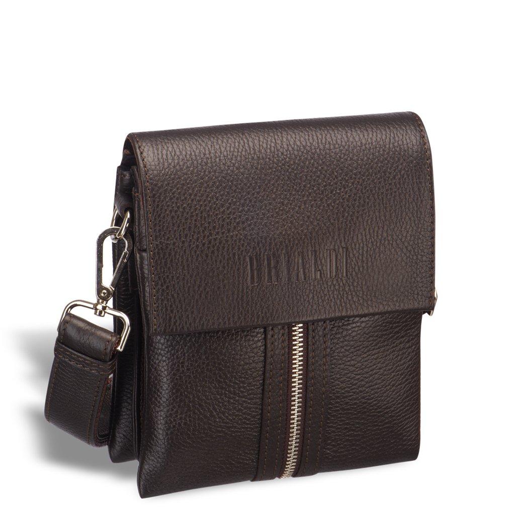Купить со скидкой Вертикальная сумка mini-формата через плечо BRIALDI Campi (Кампи) relief brown