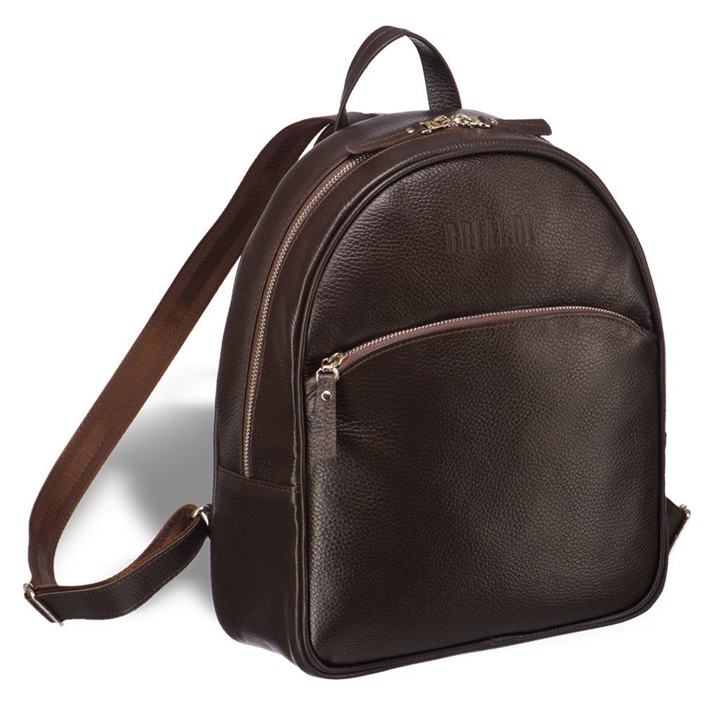 Купить Удобный женский рюкзак BRIALDI Melbourne (Мельбурн) relief brown, Италия, Коричневый, Рельефная натуральная кожа Canyon