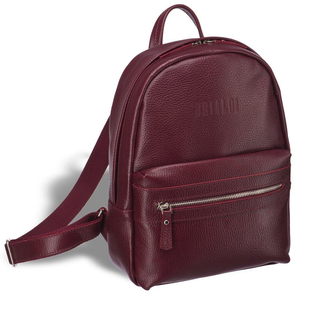 Купить Женский стильный рюкзак BRIALDI Leonora (Леонора) relief cherry, Италия, Бордовый, Рельефная натуральная кожа Canyon