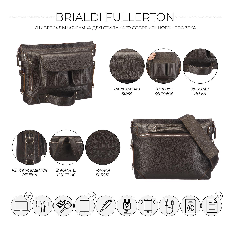 Купить со скидкой Универсальная сумка BRIALDI Fullerton (Фуллертон) relief brown