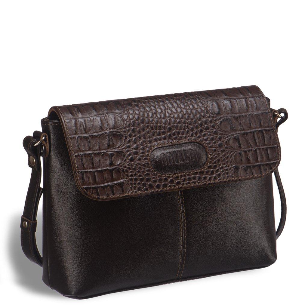 Купить Женская сумочка через плечо BRIALDI Cristo (Кристо) brown, Италия, Коричневый, Натуральная кожа высококачественной выделки Great Nappa