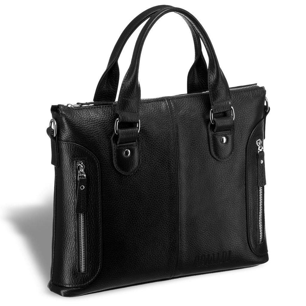 Купить Деловая сумка малого формата BRIALDI Abetone (Абетоне) relief black, Италия, Черный, Высококачественная натуральная кожа Canyon