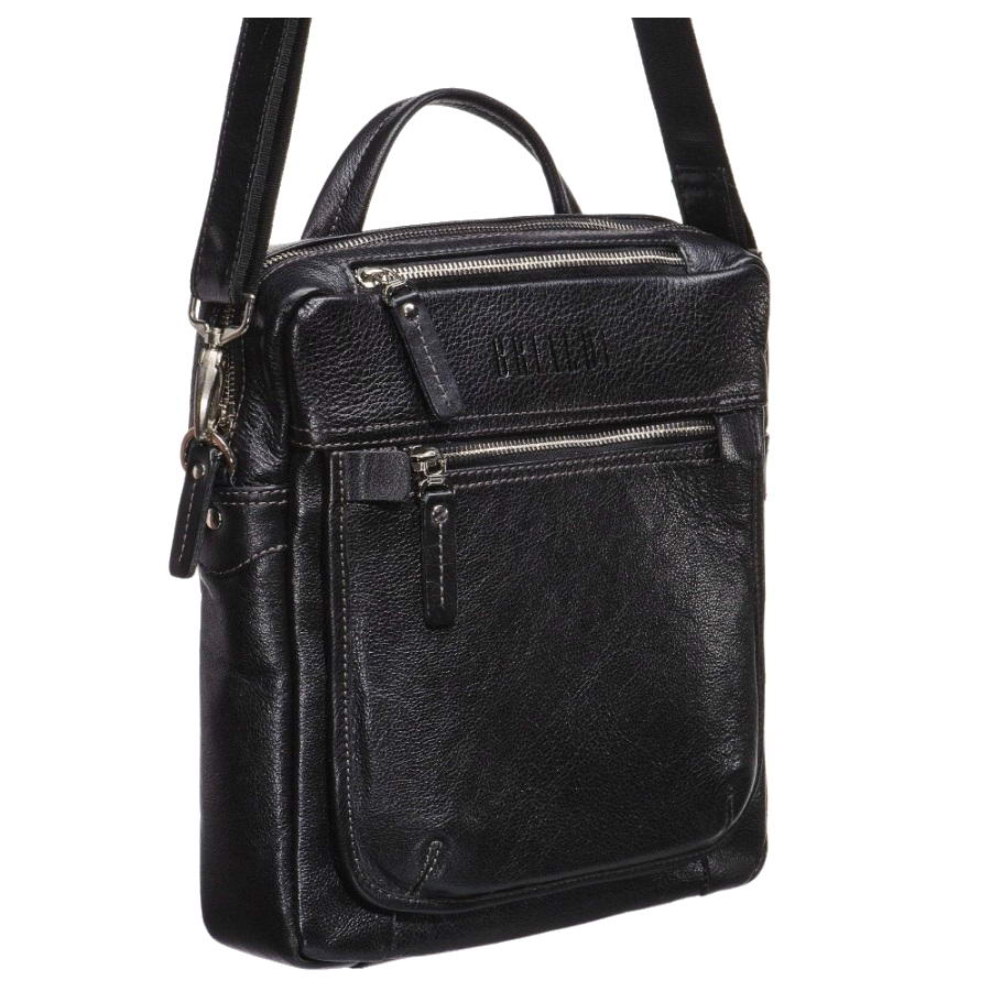 Купить Кожаная сумка через плечо BRIALDI Preston (Престон) black, Италия, Черный, Натуральная кожа высококачественной выделки, сорт Great Nappa