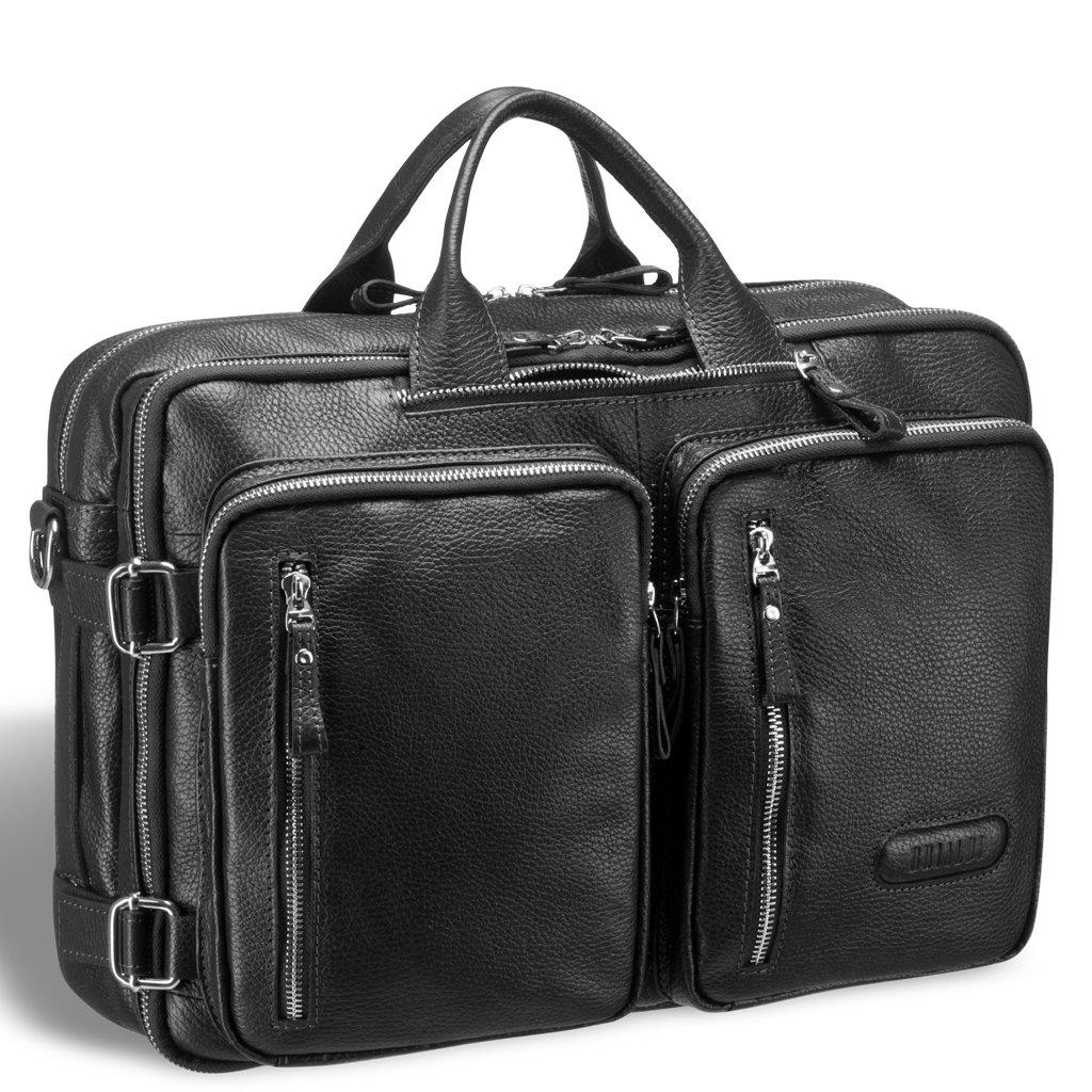Купить Мужская сумка-трансформер BRIALDI Norman (Норман) relief black, Италия, Черный, Натуральная кожа высококачественной выделки Canyon