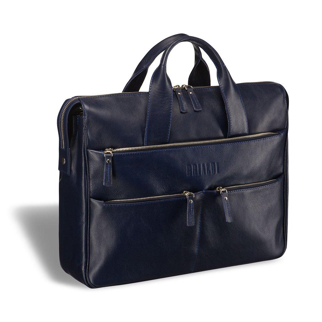 Купить Вместительная деловая сумка BRIALDI Manchester (Манчестер) navy, Италия, Синий, Натуральная кожа высококачественной выделки, сорт Great Nappa