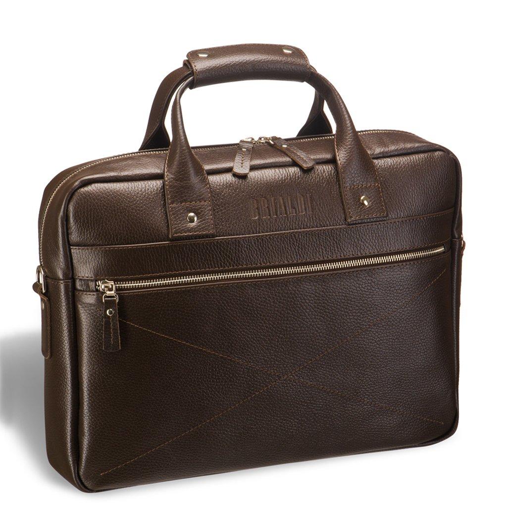 Купить Деловая сумка для документов BRIALDI Polo (Поло) relief brown, Италия, Коричневый, Натуральная кожа высококачественной выделки Canyon