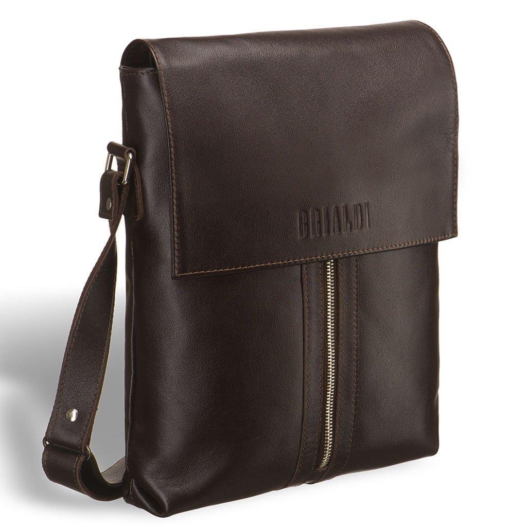 Купить Кожаная сумка через плечо BRIALDI Positano (Позитано) brown, Италия, Коричневый, Натуральная кожа высококачественной выделки, сорт Great Nappa