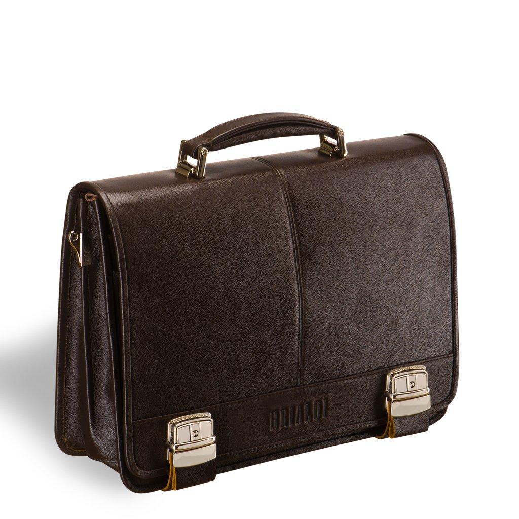 Классический деловой портфель для документов BRIALDI Siracusa (Сираку?зы) brown