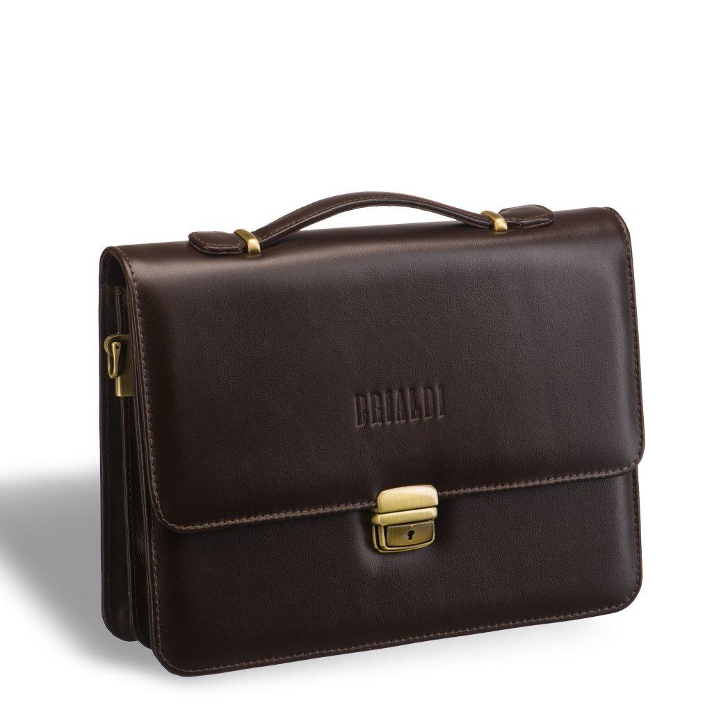 Компактный портфель для документов c отделениями BRIALDI Ameca (Амека) brown