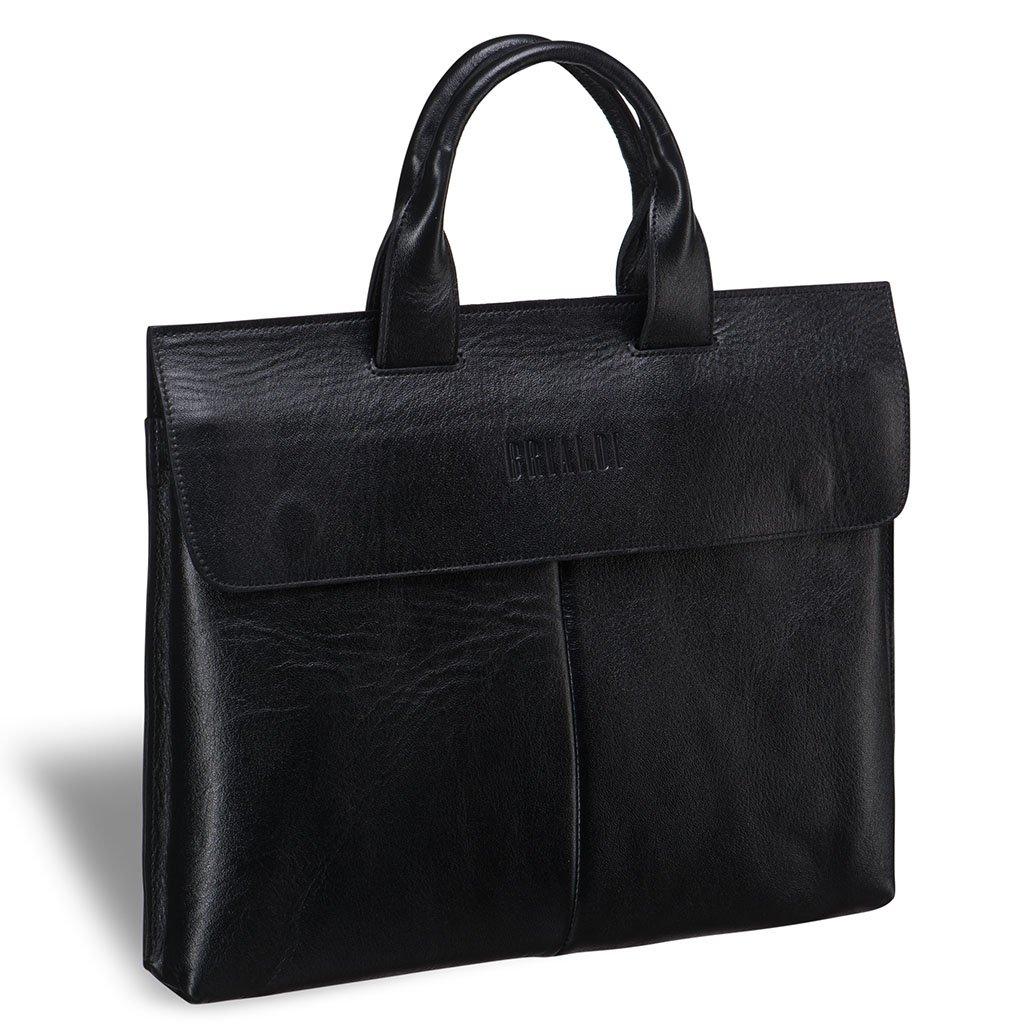 Купить Деловая сумка BRIALDI Toledo (Толедо) black, Италия, Черный, Натуральная кожа высококачественной выделки, сорт Great Nappa