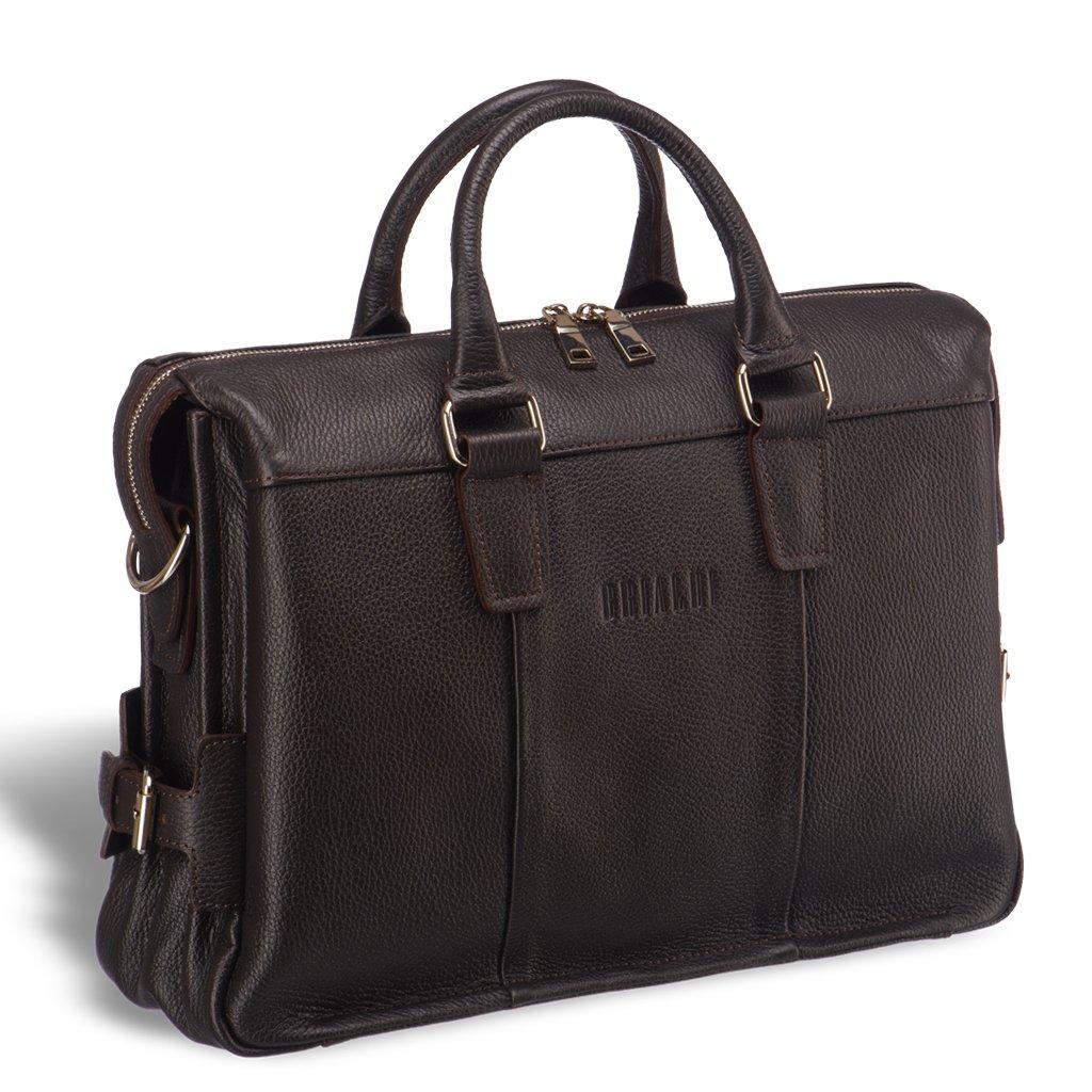 Надежная мужская сумка для документов BRIALDI Bard (Бард) relief brown, Италия, Коричневый, Натуральная кожа высококачественной выделки Canyon  - купить со скидкой