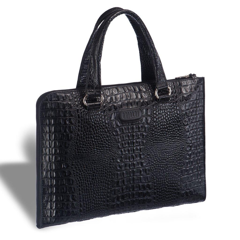 Купить со скидкой Женская деловая сумка BRIALDI Aisa (Аиса) croco black