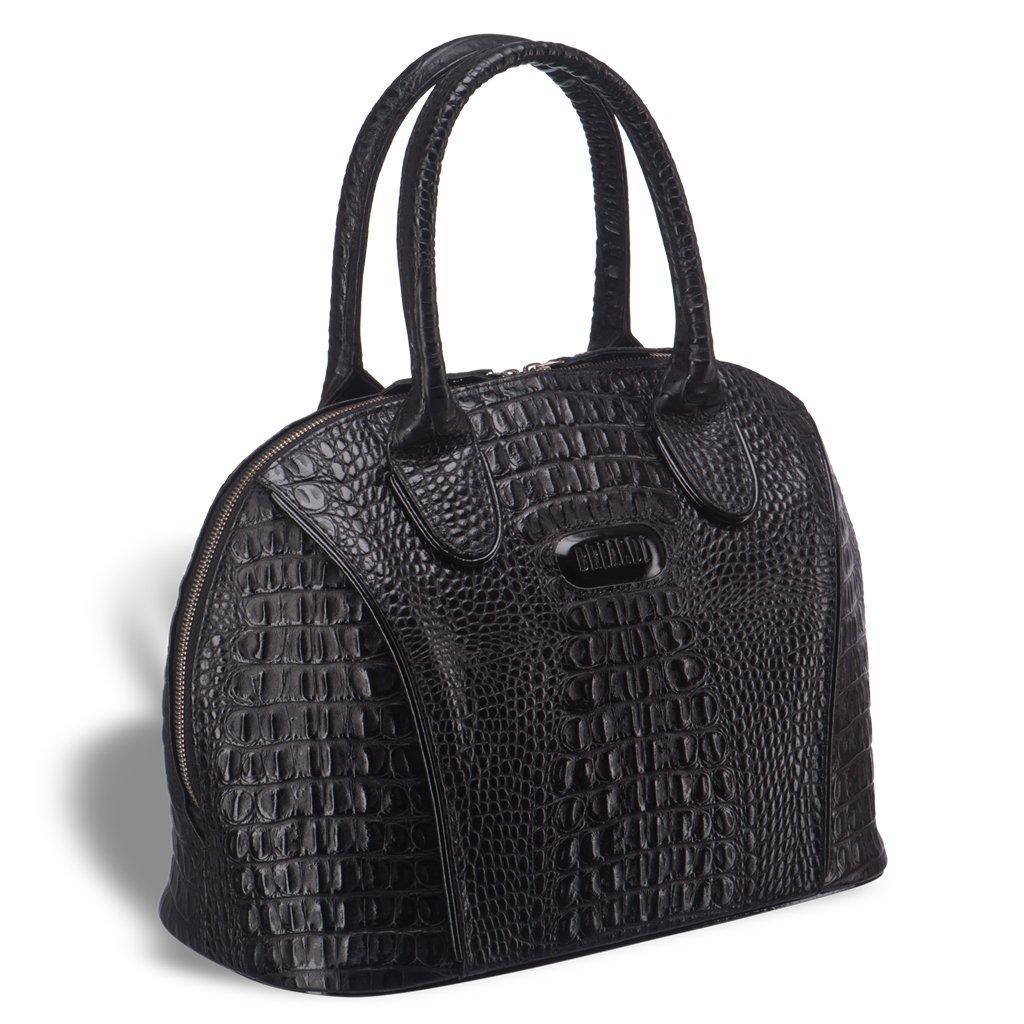 Купить со скидкой Каркасная женская сумка BRIALDI Villena (Вильена) croco black
