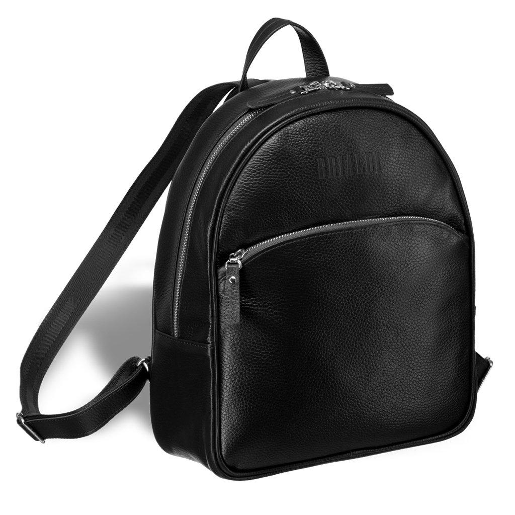 Купить Удобный женский рюкзак BRIALDI Melbourne (Мельбурн) relief black, Италия, Черный, Рельефная натуральная кожа Canyon