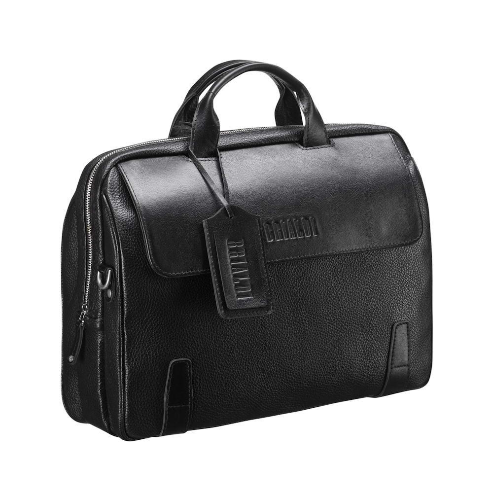 Купить Деловая сумка для города BRIALDI Seattle (Сиэтл) black, Италия, Черный, Натуральная кожа, сорт Great Nappa и Canyon