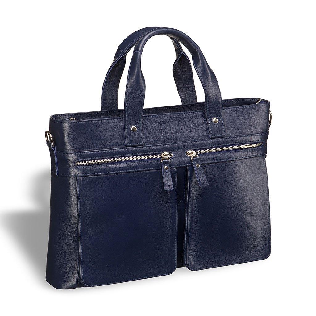 Купить Деловая сумка для документов BRIALDI Bosa (Боза) navy, Италия, Синий, Натуральная кожа высококачественной выделки, сорт Great Nappa